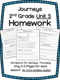 HOMEWORK for Journeys 2nd Grade UNIT 3