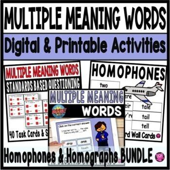 HOMOGRAPHS MULTIPLE MEANING WORD BUNDLE
