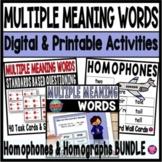 Homophones and Homographs Activities Bundle