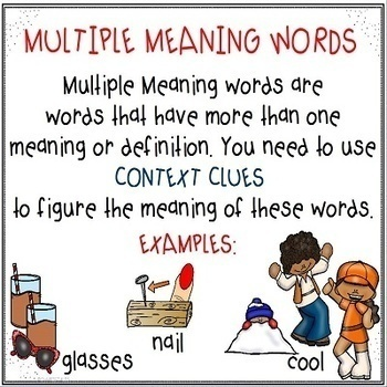 Using Context Clues for Multiple Meaning Words