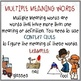 MULTIPLE MEANING ILLUSTRATED WORDS and JOURNAL ACTIVITY