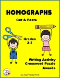 HOMOGRAPHS  ... Cut & Paste Worksheets ... Gr. 2-3