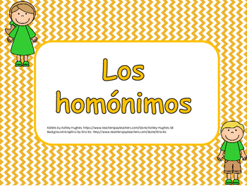 HOMONIMOS / HOMONYMS IN SPANISH