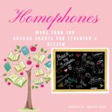 HOMOPHONES  ANCHOR CHARTS