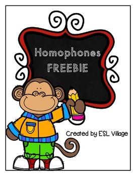 Free HOMOPHONES Cards