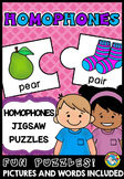 HOMOPHONES ACTIVITIES (MATCH UP GRAMMAR GAME OR CENTER)