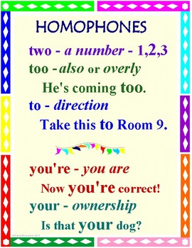HOMOPHONES: Common Core Aligned Lessons, Worksheets, and Board Notes