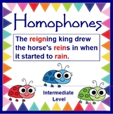 HOMOPHONES Cute as a Bug SMARTboard - Intermediate Level w