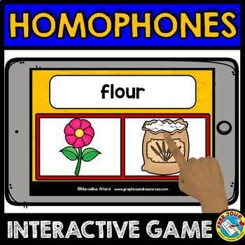 HOMOPHONES ACTIVITIES (BOOM CARDS BUNDLE) GRAMMAR LANGUAGE GAMES ELA