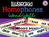 HOMOPHONES WORD WALL (ILLUSTRATED)