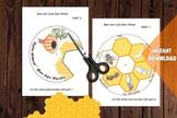 HONEY BEE LIFE CYCLE * SPIN WHEEL / Editable Watercolor / Homeschool Printable