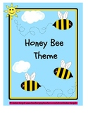 HONEY BEE THEME (folder cover, substitute cover, communication log)