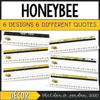 Bee Theme Name Tags