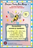 PRODUCT LIST & EXAMPLES: HONEYBEE'S COUNTING BOOK PACKAGE 1