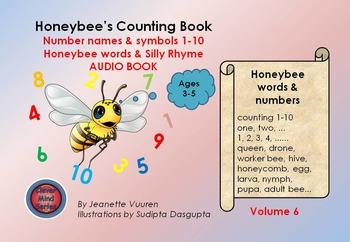 AUDIO BOOK: HONEYBEE'S COUNTING BOOK - VOLUME 6 - HONEYBEE FACTS & TERMINOLOGY