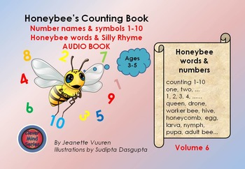 AUDIO BOOK: HONEYBEE'S COUNTING BOOK - VOLUME 6 - HONEYBEE