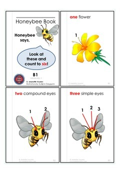 READER BOOKLET:HONEYBEE'S COUNTING BOOK - VOL 6 -WHITE BACKGROUND-4a