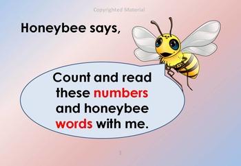 HONEYBEE TERMINOLOGY: HONEYBEE'S COUNTING BOOK - VOL 6 - COLORED BACKGROUND 1a