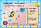 HONEY BEE TERMINOLOGY: HONEYBEE'S COUNTING BOOK - VOL 6 - COLORED BACKGROUND 1a