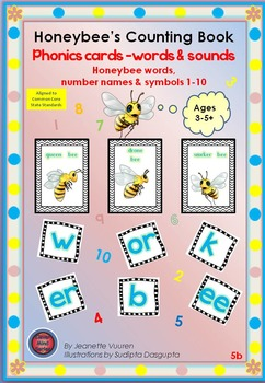PHONICS CARDS: HONEYBEE WORDS & PICTURES:5b-COLOR