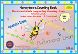 PHONICS WORKSHEETS: HONEY BEE WORDS & NUMBERS-SEGMENT & BLEND -5a-NO PICTURES
