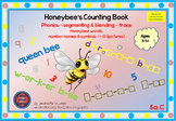 PHONICS WORKSHEETS: HONEY BEE WORDS & NUMBERS: SEGMENTING & BLENDING-5a PICTURES
