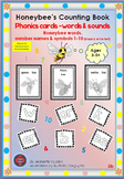 PHONICS CARDS: HONEY BEE WORDS & PICTURES: 5b-BLACK&WHITE