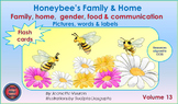 HONEY BEE FLASH CARDS:  FAMILY & HOME FLASH CARDS VOLUME 13