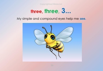 HONEY BEE FACTS WORDS & SONG: YOUTUBE HONEYBEE'S SILLY RHYME VOL 6 - 2b