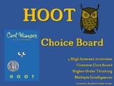 HOOT Choice Board Tic Tac Toe Novel Activities Assessment