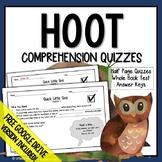 HOOT Comprehension Questions (HOOT Novel Study)