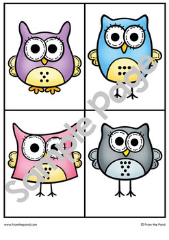 HOOT - Printable Math Center Games