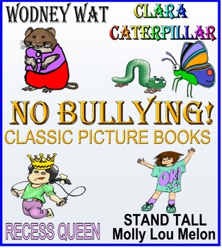HOOWAY FOR WODNEY WAT plus 3 more classic NO-BULLYING PICTURE BOOKS