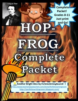 NEW! HOP-FROG COMPLETE Packet - Activities, Quizzes, Keys & Writing (Gr. 8-11)