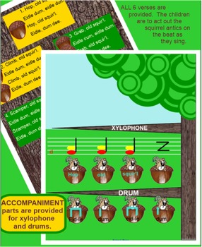 HOP OLD SQUIRREL ~ Traditional Song~ ta, titi~ re~ Inst. Parts~ SMARTboard