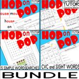 HOP ON POP {dr seuss} {worksheets}