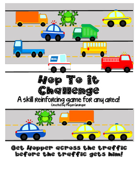 HOP TO IT!  Speech and Language Reinforcing Therapy Activity