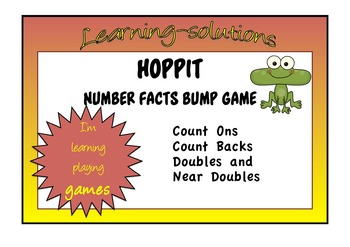 NUMBER FACTS - HOPPIT BOARD GAME - Addition and Subtraction Facts within 20