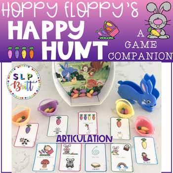 HOPPY FLOPPY'S HAPPY HUNT, BUNNY GAME COMPANION, ARTICULATION (EASTER, SPRING)