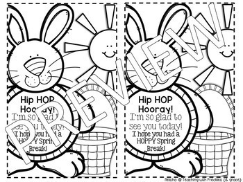 HOPPY to See You | Student Gift | Easter Bunny | FREEBIE