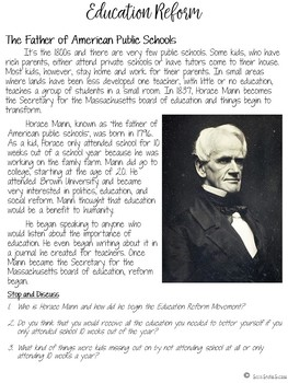 HORACE MANN AND EDUCATION REFORM