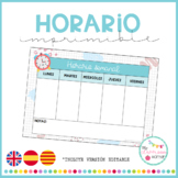 HORARIO (Imprimible y editable)