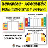 HORARIOS-ACORDEÓN PARA LA CLASE DE ESPAÑOL