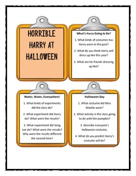 HORRIBLE HARRY AT HALLOWEEN  -  Discussion Cards