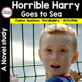 HORRIBLE HARRY Goes to Sea { Book Unit}