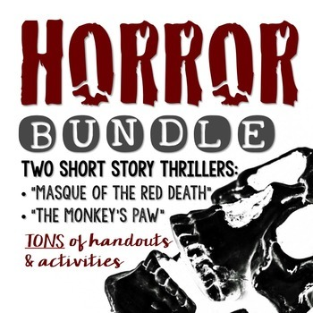 """HORROR BUNDLE: """"The Monkey's Paw"""" and """"Masque of the Red Death"""""""