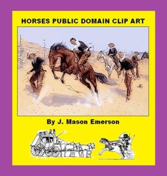 ARTS, THEMING: HORSES PUBLIC DOMAIN CLIP ART