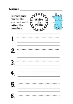 HORTON HEARS A WHO WRITE THE ROOM, Dr. Seuss, Read Across America