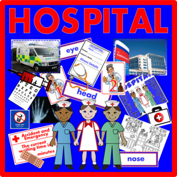 HOSPITAL ROLE PLAY TEACHING RESOURCES EARLY YEARS KEY STAGE 1-2 HUMAN BODY