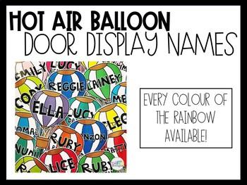 HOT AIR BALLOON DOOR NAMES